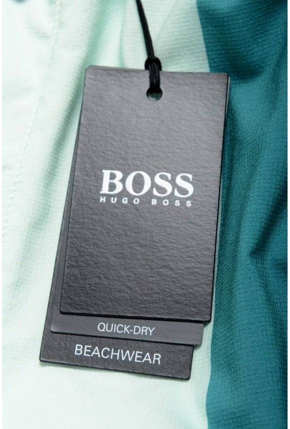 """Hugo Boss Men's """"Carp"""" Striped Multi-Color Swim Board Shorts: Picture 4"""