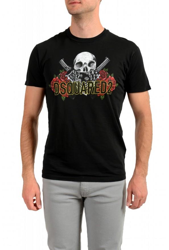 Dsquared2 Men's Black Graphic Crewneck T-Shirt