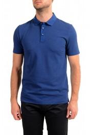 """Hugo Boss Men's """"Plummer 06"""" Slim Fit Blue Short Sleeve Polo Shirt"""