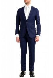 """Hugo Boss Men's """"Novan5/Ben2"""" Slim Fit 100% Wool Plaid Two Button Suit"""
