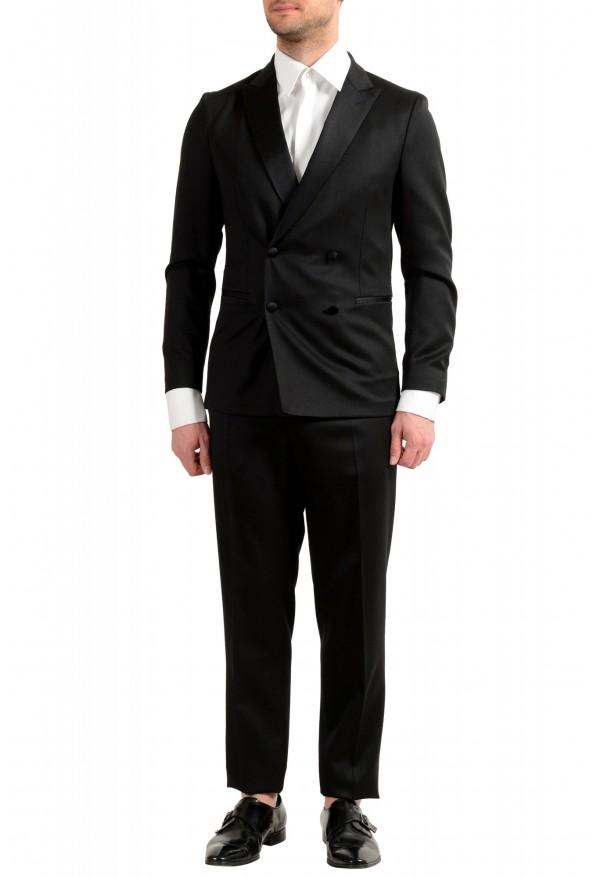 """Hugo Boss Men's """"Nielsen/Oliwer_1"""" Black 100% Wool Double Breasted Tuxedo Suit"""