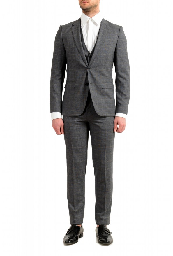 """Hugo Boss Men's """"Astian/Hets182V1"""" Extra Slim Fit 100% Wool Three Piece Suit"""