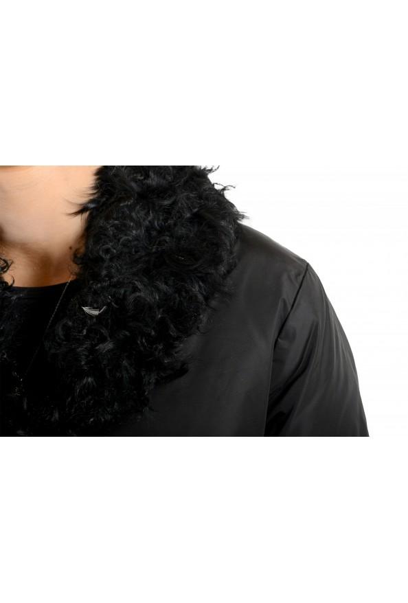 """Moncler Women's """"VENT"""" Black Fur Trimmed Down Parka Jacket: Picture 4"""