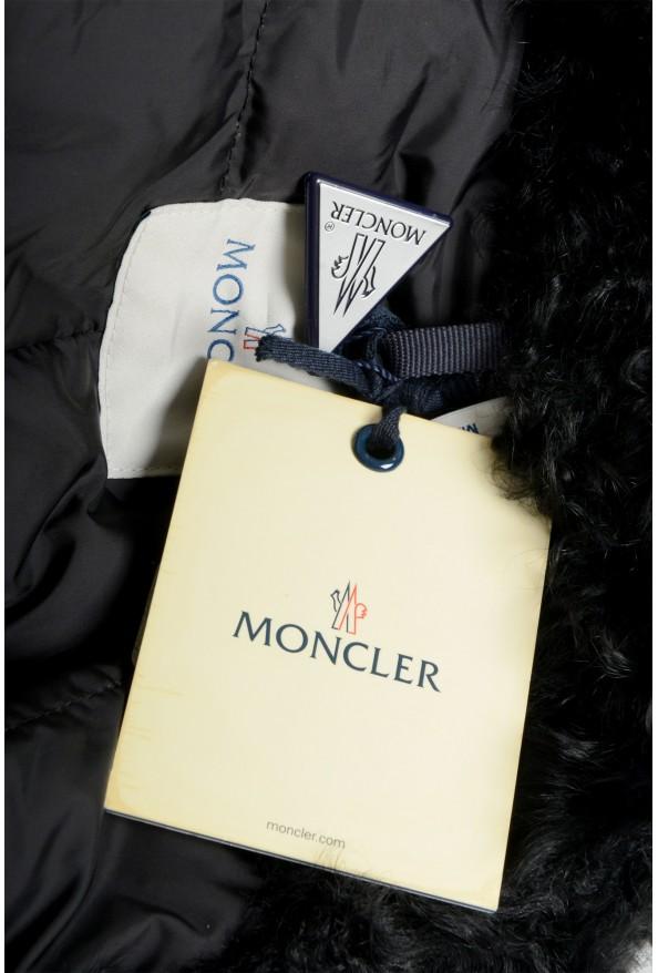 """Moncler Women's """"VENT"""" Black Fur Trimmed Down Parka Jacket: Picture 6"""