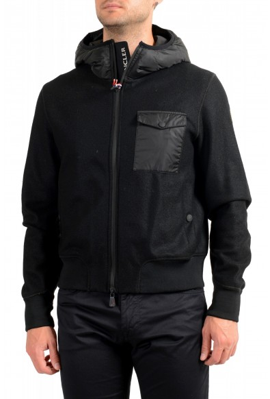"""Moncler Men's """"SANTOIRE"""" Black 100% Wool Hooded Jacket"""