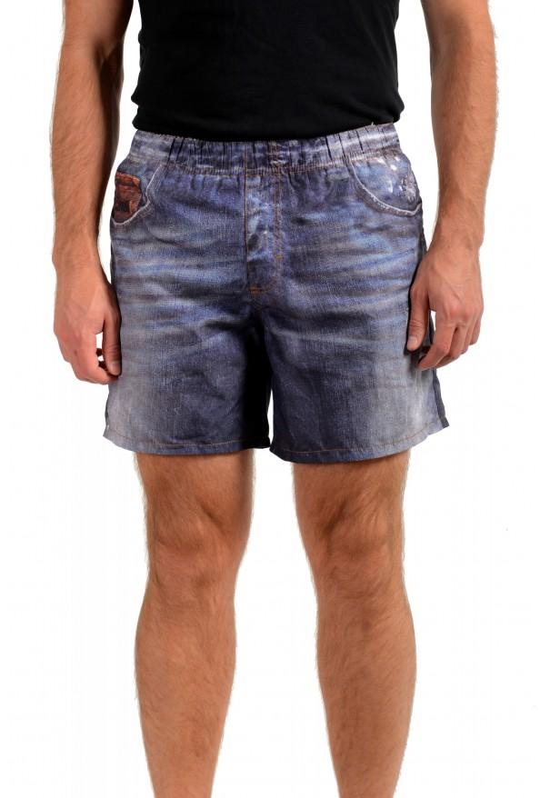Just Cavalli Men's Denim Print Swim Board Shorts