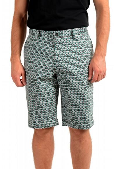 """Hugo Boss Men's """"RIGAN-SHORT"""" Geometric Print Casual Shorts"""