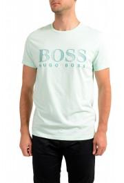 """Hugo Boss Men's """"T-Shirt RN"""" Light Green Crewneck T-Shirt"""