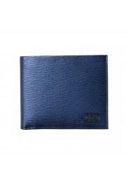 Salvatore Ferragamo Men's Logo Blue 100% Textured Leather Bifold Wallet