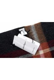 Salvatore Ferragamo Multi-Color 100% Cashmere Plaided Logo Print Shawl Scarf: Picture 4