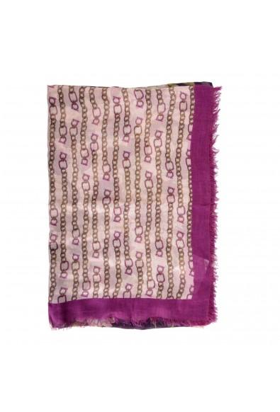 Salvatore Ferragamo Women's Multi-Color Wool Floral Print Shawl Scarf: Picture 2
