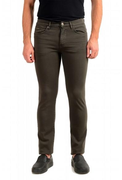 """Hugo Boss Men's """"Delaware3-1"""" Slim Fit Green Wash Straight Leg Jeans"""