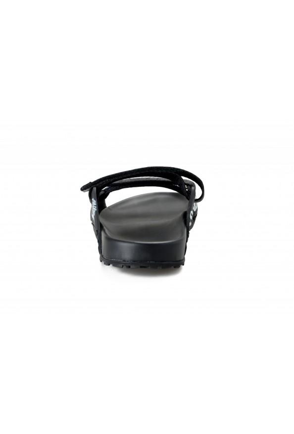 Versace Men's Black Logo Print Sandals Flip Flop Shoes: Picture 3