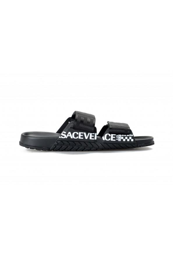 Versace Men's Black Logo Print Sandals Flip Flop Shoes: Picture 4