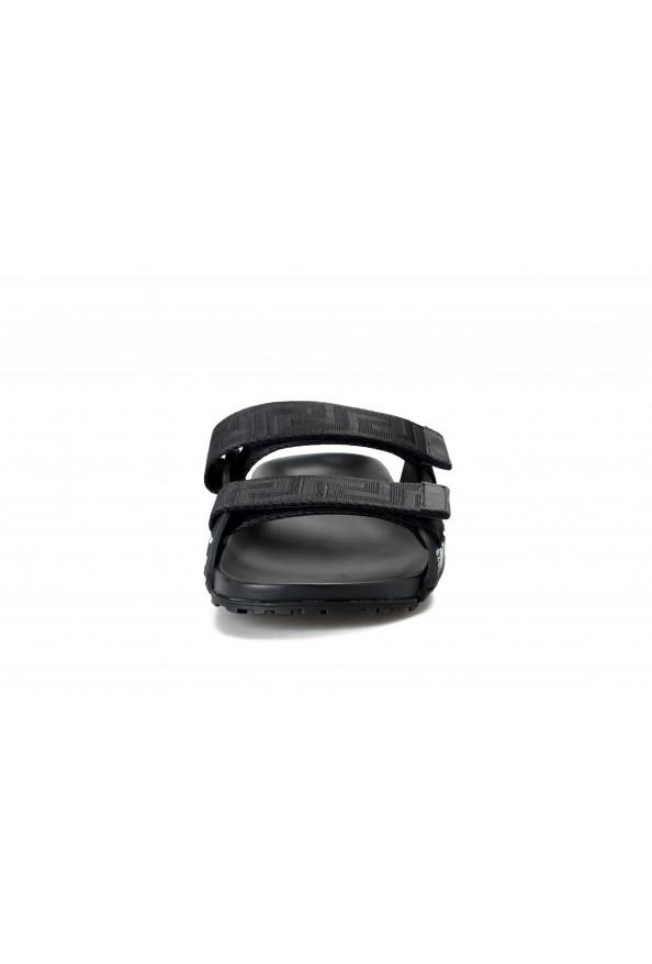 Versace Men's Black Logo Print Sandals Flip Flop Shoes: Picture 5