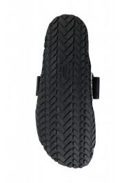 Versace Men's Black Logo Print Sandals Flip Flop Shoes: Picture 6