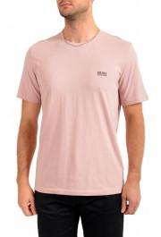 """Hugo Boss Men's """"Mix&Match"""" Light Pink Stretch Crewneck T-Shirt"""