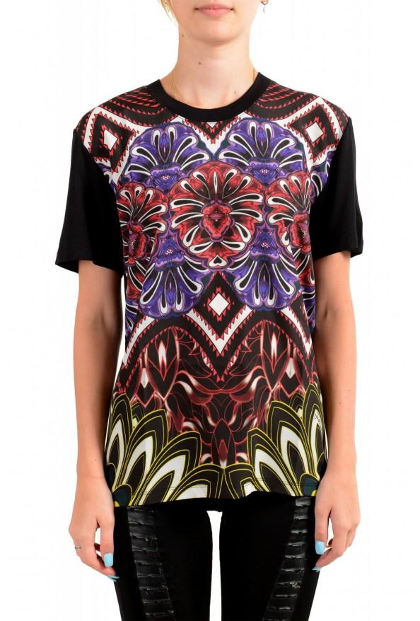 Just Cavalli Women's Floral Print Multi-Color Crewneck T-Shirt