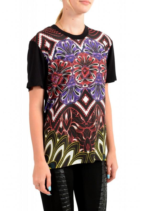Just Cavalli Women's Floral Print Multi-Color Crewneck T-Shirt : Picture 2