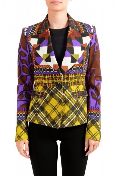 Just Cavalli Women's Multi-Color One Button Blazer