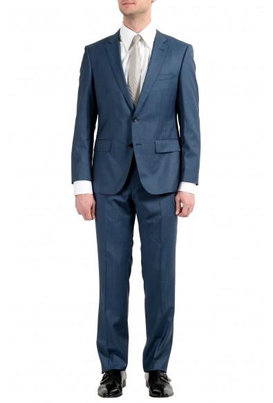 """Hugo Boss """"Huge6/Genius4"""" Men's 100% Wool Blue Two Button Suit"""