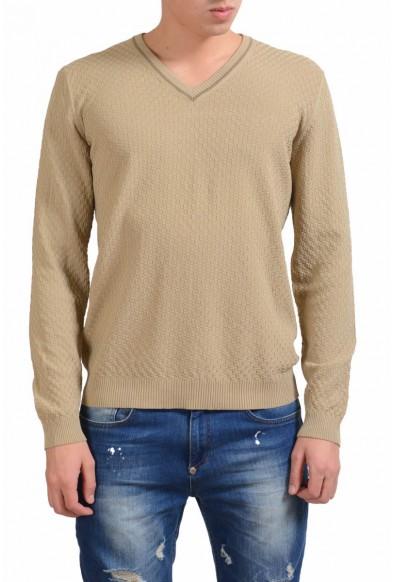 Malo V-Neck Men's Beige Light Sweater