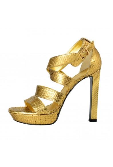 Saint Laurent Women's Python High Heels Platform Sandals Shoes: Picture 2