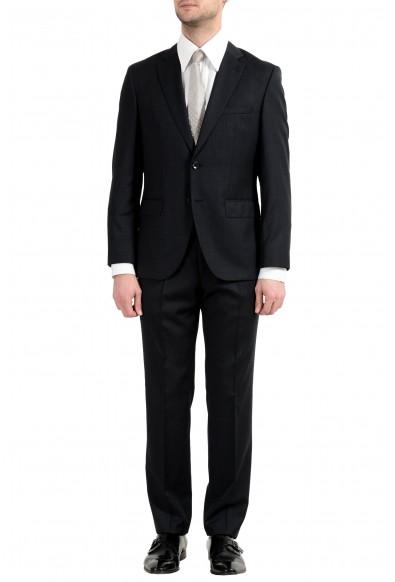 """Hugo Boss """"Johnstons5/Lenon1"""" Men's 100% Wool Dark Gray Two Button Suit"""