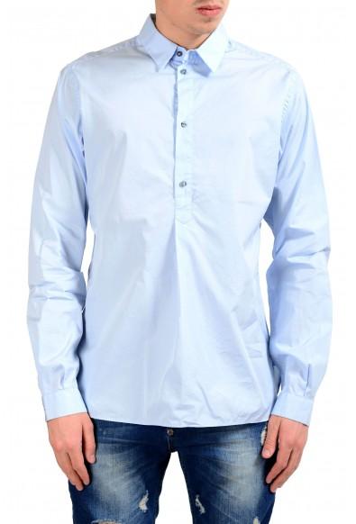 Dolce & Gabbana Men's 1/2 Button Blue Dress Shirt
