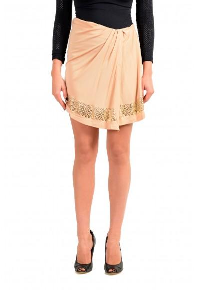 Just Cavalli Women's Beige Asymmetrical Skirt