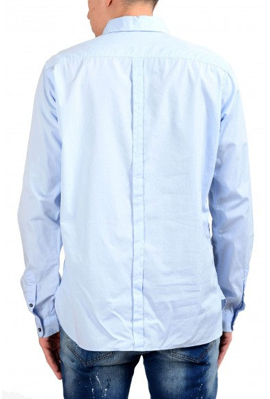 Dolce & Gabbana Men's 1/2 Button Blue Dress Shirt: Picture 2