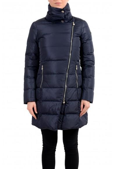 Versace Women's Blue Down Zip Up Parka Jacket Coat