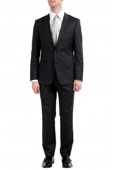 """Hugo Boss """"Huge4/Genius3"""" Men's 100% Wool Dark Gray Two Button Suit"""