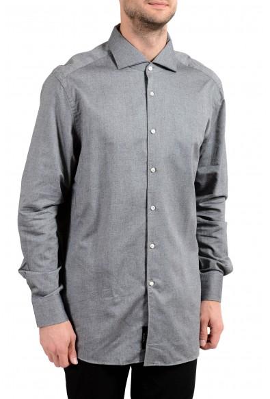 """Hugo Boss """"T-Steven"""" Men's Slim Gray Long Sleeve Dress Shirt"""