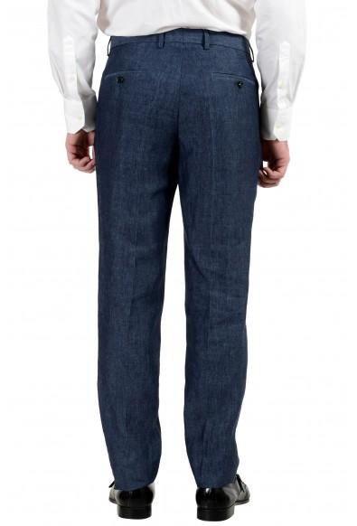 """Hugo Boss """"Harvey/Getlin182H1"""" Men's 100% Linen Slim Blue Two Button Suit: Picture 2"""