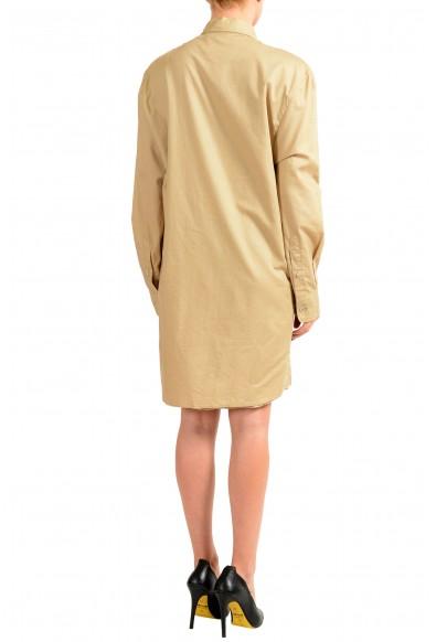 Maison Margiela 4 Beige Button Down Women's Shirt Dress: Picture 2