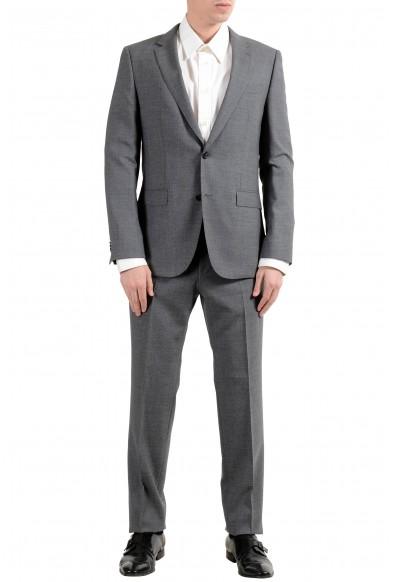 """Hugo Boss """"Novan5/Ben2"""" Men's 100% Wool Gray Slim Two Button Suit"""