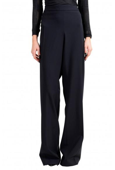 """Hugo Boss Women's """"Tulea_SideZip"""" Blue Wool Dress Pants"""