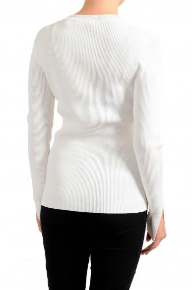 """Hugo Boss Women's """"Fangeli"""" White Long Sleeve Stretch Sweater: Picture 2"""