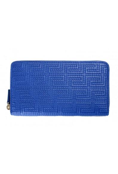 Versace 100% Leather Blue Women's Wallet