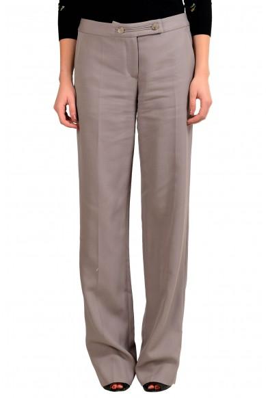 Maison Margiela 1 Women's Beige 100% Wool Dress Pants