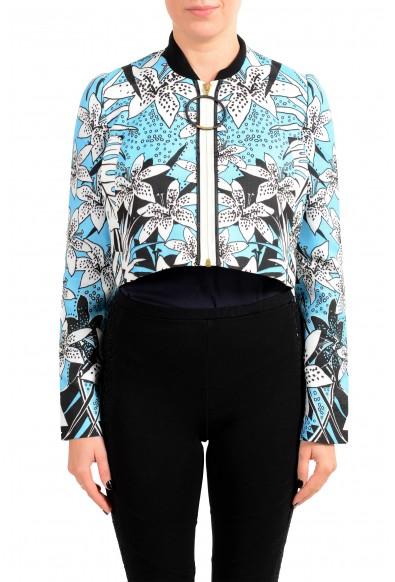 Just Cavalli Women's Multi-Color Zip Up Light Jacket