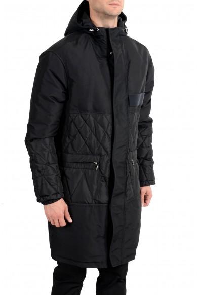 Versace Collection Men's Black Down Full Zip Hooded Coat: Picture 2