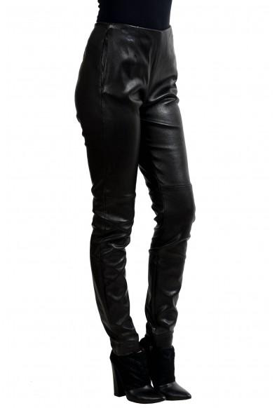 Maison Margiela 1 100% Lamb Leather Black Women's Casual Pants: Picture 2