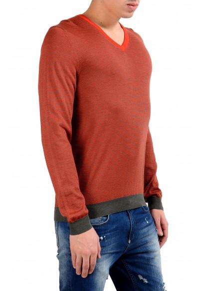 Malo Men's Striped Cashmere Silk V-Neck Pullover Light Sweater : Picture 2
