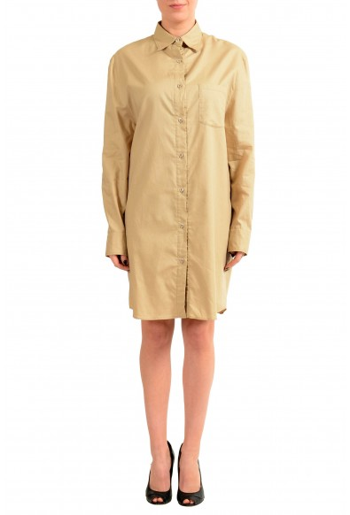 Maison Margiela 4 Beige Button Down Women's Shirt Dress