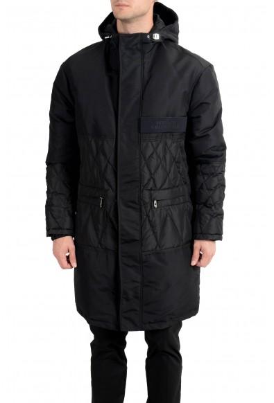 Versace Collection Men's Black Down Full Zip Hooded Coat