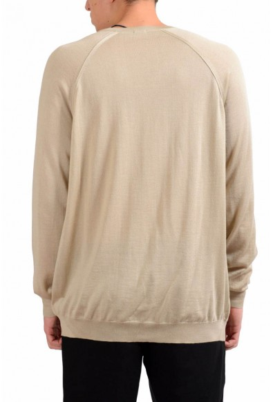 Malo Men's Beige V-Neck Silk Cashmere Light Pullover Sweater: Picture 2