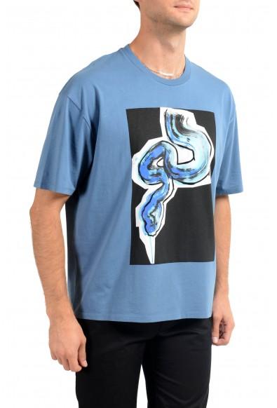 Just Cavalli Men's Blue Graphic Print Crewneck T-Shirt : Picture 2