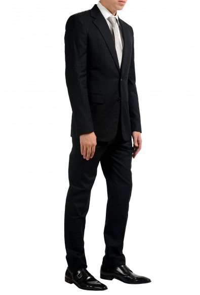 Maison Margiela 14 Men's Silk Black Two Button Suit : Picture 2